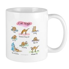Cat YOGA POSES Small Mugs