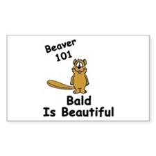 """Bald is Beautiful"" Rectangle Decal"