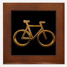GoldenBike.jpg Framed Tile