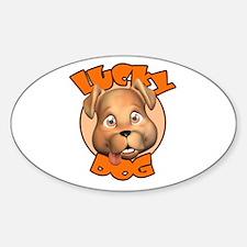 Lucky Dog Oval Decal
