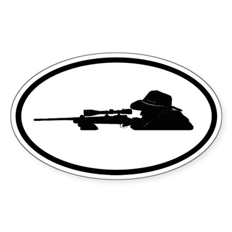 Hunting Oval Sticker