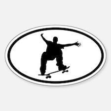 Skateboarding Sticker 2 (Oval)