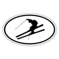 Skiing Oval Decal