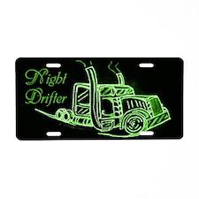 Night Drifter Truck Driver Aluminum License Plate