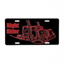 Night Truck Driver Aluminum License Plate