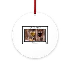 Ornament (Round) - wine o'clock