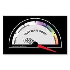 Broken Gaydar Rectangle Decal