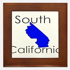 South California Blue State Framed Tile