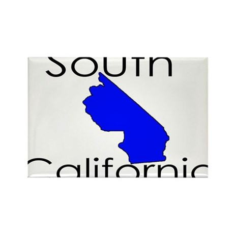 South California Blue State Rectangle Magnet