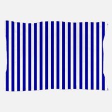 Navy Blue and White Sailor stripes Pillow Case
