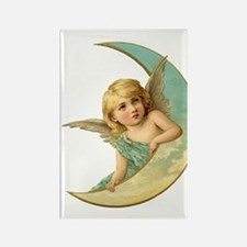 Moon Angel Rectangle Magnet