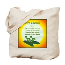 Give Thanks for...Sweet Peas Tote Bag