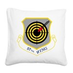 57th Wing Square Canvas Pillow