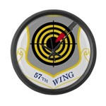 57th Wing Large Wall Clock