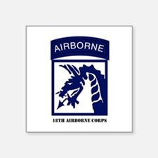 18th Airborne Corps Rectangle Sticker