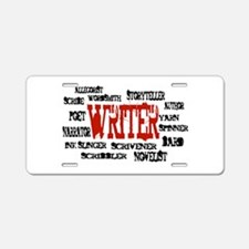 They call me Writer Aluminum License Plate