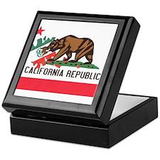 New California Flag Keepsake Box