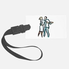 Casual Ballroom Dancers Luggage Tag