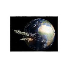 Spaceships 5'x7'Area Rug