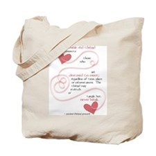Invisible Red Thread Tote Bag