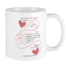 Invisible Red Thread Small Mug
