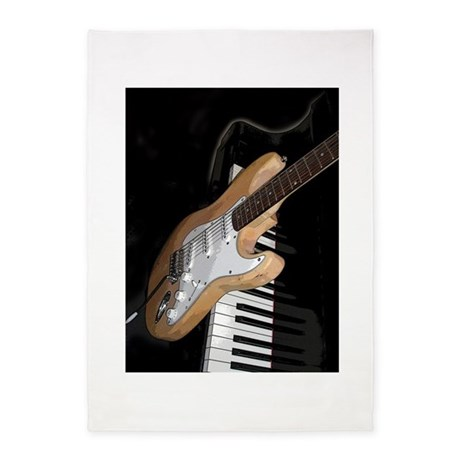 electric guitar and piano large rug by musicalartworks. Black Bedroom Furniture Sets. Home Design Ideas