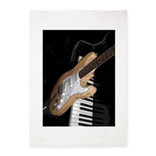 Electric Guitar and Piano Large Rug