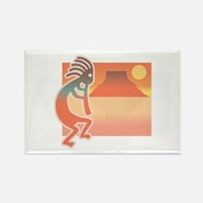 Kokopelli with Scenic Background Rectangle Magnet