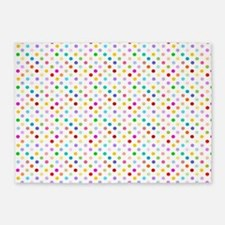 Rainbow Polka Dots 5'x7'Area Rug