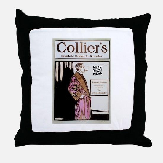 Sherlock Holmes QR Magazine Throw Pillow