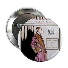 """Sherlock Holmes QR Magazine 2.25"""" Button"""