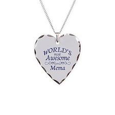 Mema Necklace Heart Charm