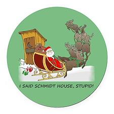 Schmidt House Cartoon Christmas Round Car Magnet