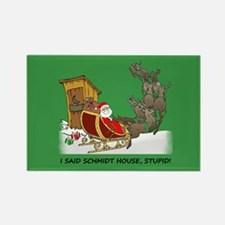 Schmidt House Cartoon Christmas Rectangle Magnet