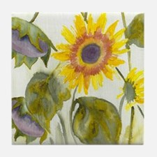 Wild Sunflowers Tile Coaster
