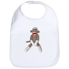 Sock Monkey Sitting Bib
