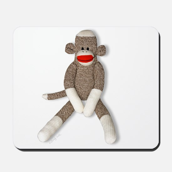 Sock Monkey Sitting Mousepad