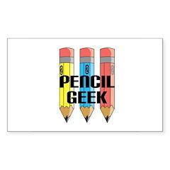 Pencil Geek Rectangle Decal