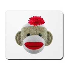 Sock Monkey Face Mousepad
