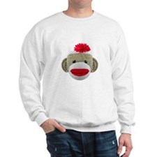 Sock Monkey Face Sweatshirt