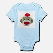Sock Monkey Face Infant Bodysuit