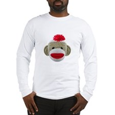 Sock Monkey Face Long Sleeve T-Shirt