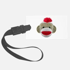 Sock Monkey Face Luggage Tag