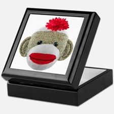 Sock Monkey Face Keepsake Box