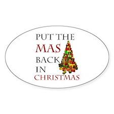 Mas Christmas Sticker (Oval)