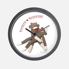 Monkey Business - Wall Clock
