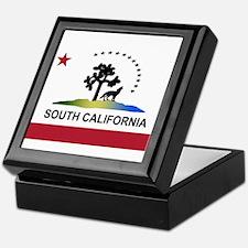 Flag of South California Keepsake Box