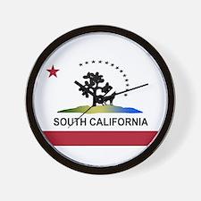 Flag of South California Wall Clock