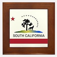 Flag of South California Framed Tile
