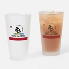 Flag of South California Drinking Glass